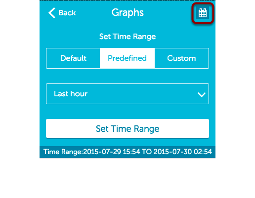 Adjusting the graph time range