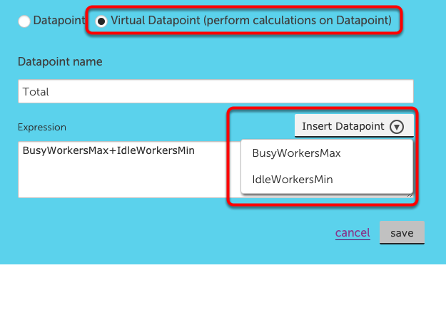 Adding Virtual Datapoints (perform a calculation)