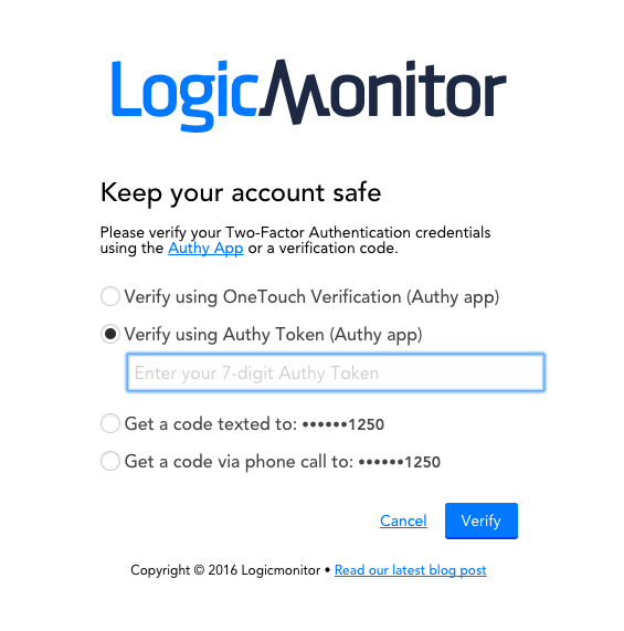 Accessing Account with Two-Factor Authentication