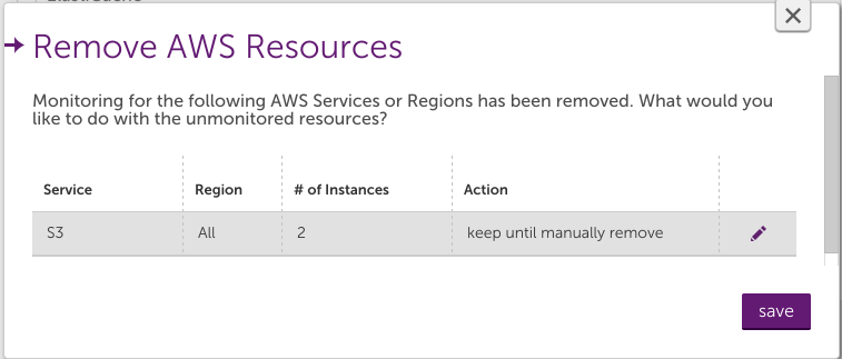 Deleting AWS devices