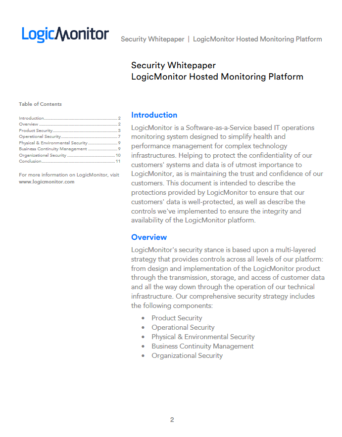 LogicMonitor Security Overview | LogicMonitor Resource