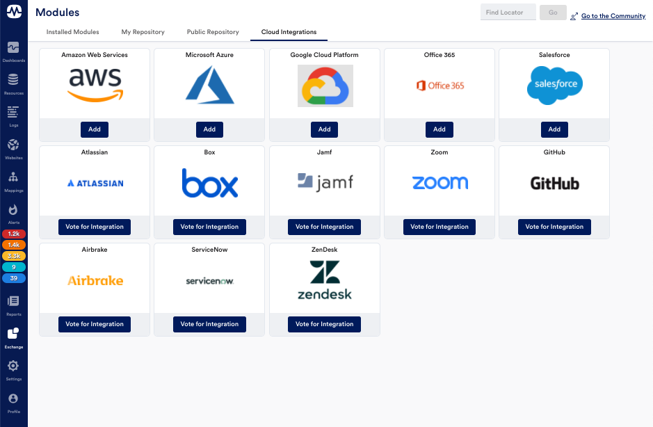 Cloud and SaaS Integrations in LM Exchange.